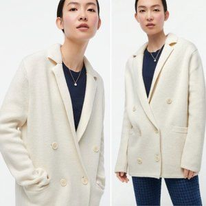 J.Crew Double Breasted Wool Blend Sweater Blazer S